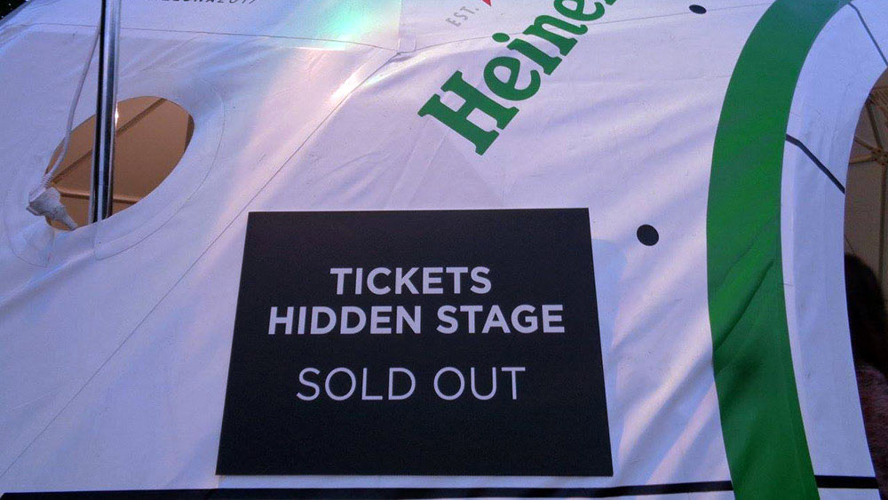 Hidden Stage sold out